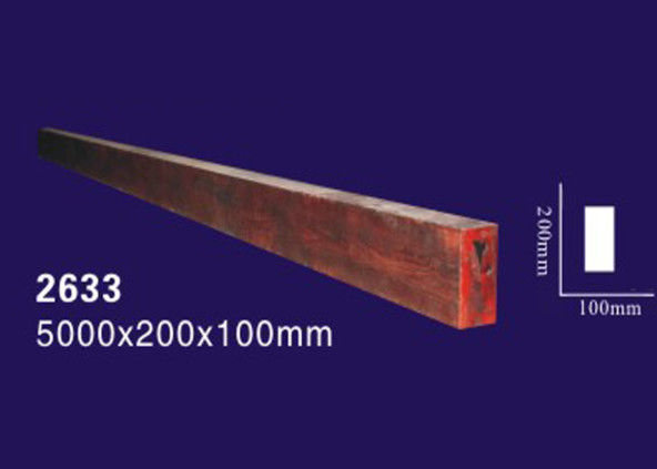 Water Proof / Fireproof Polyurethane Faux Beams , Wood Color Imitation Wood Beams